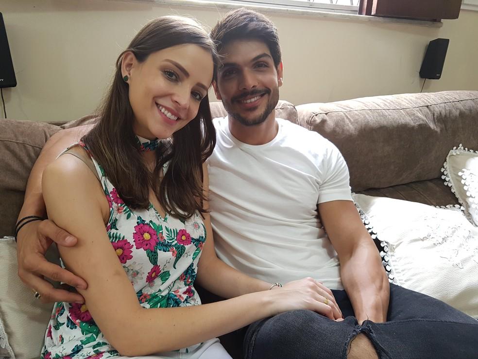 Lucas namora há cinco anos  com a modelo Ana Lucia (Foto: Gabriela Mouta/Gshow)