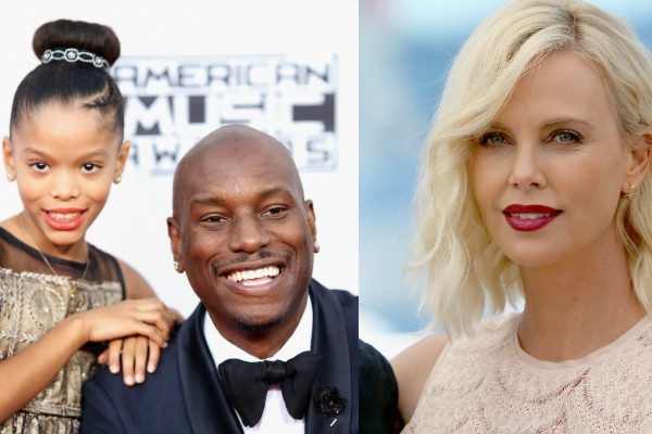 Shayla, Tyrese Gibson e Charlize Theron  (Foto: Getty Images)