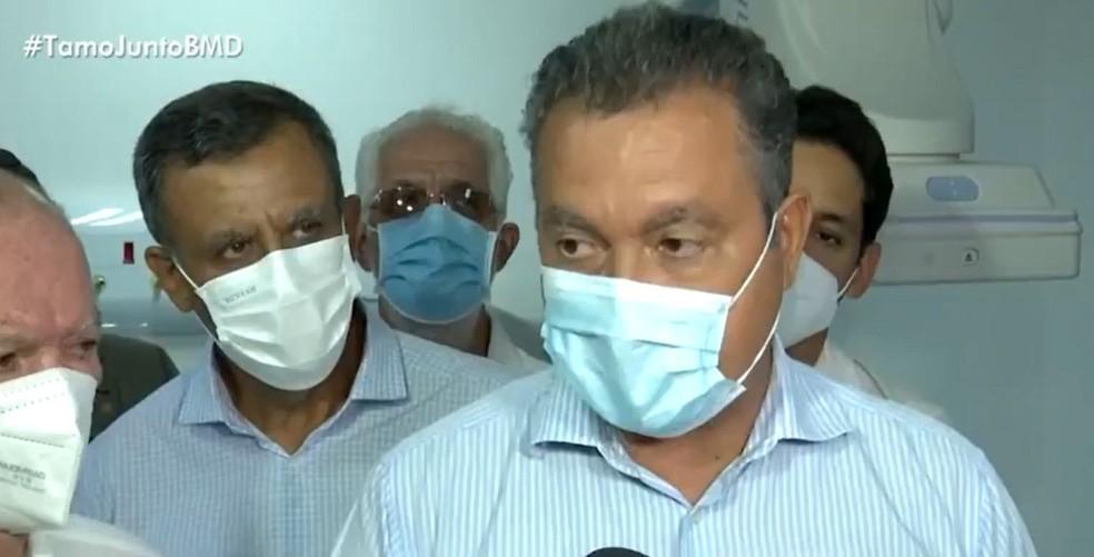 Governador da Bahia fala que número de infectados pela Covid-19 parou de cair há quatro dias — Foto: Reprodução / TV Bahia