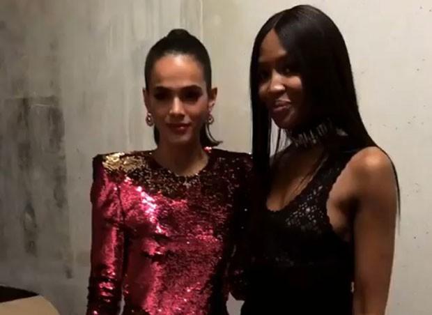 Bruna Marquezine e Naomi Campbell (Foto: Reprodução Instagram)