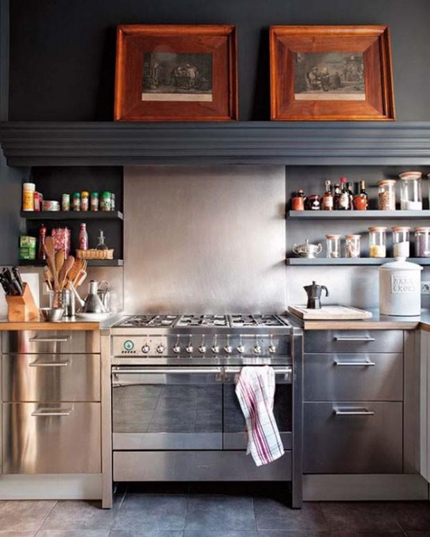 kitchen room design ideas enchanting of small white kitchen small u shaped kitchen with kitchen cabinets organizers - AnnML (Foto: Reprodução/Divulgação)