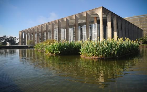 Fachada do Ministério das Relações Exteriores, o Palácio do Itamaraty, em Brasília (Foto: Ana de Oliveira/AIG-MRE)