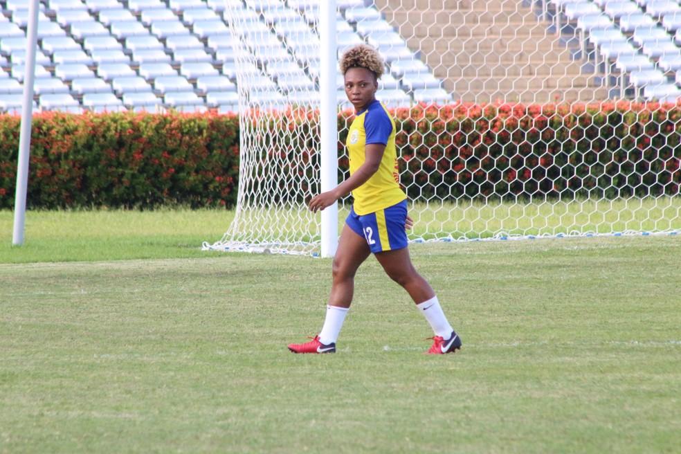 Valéria fez seu último jogo pelo Tiradentes-PI na Série A2 do Brasileiro feminino  (Foto: Arthur Ribeiro/GloboEsporte.com)