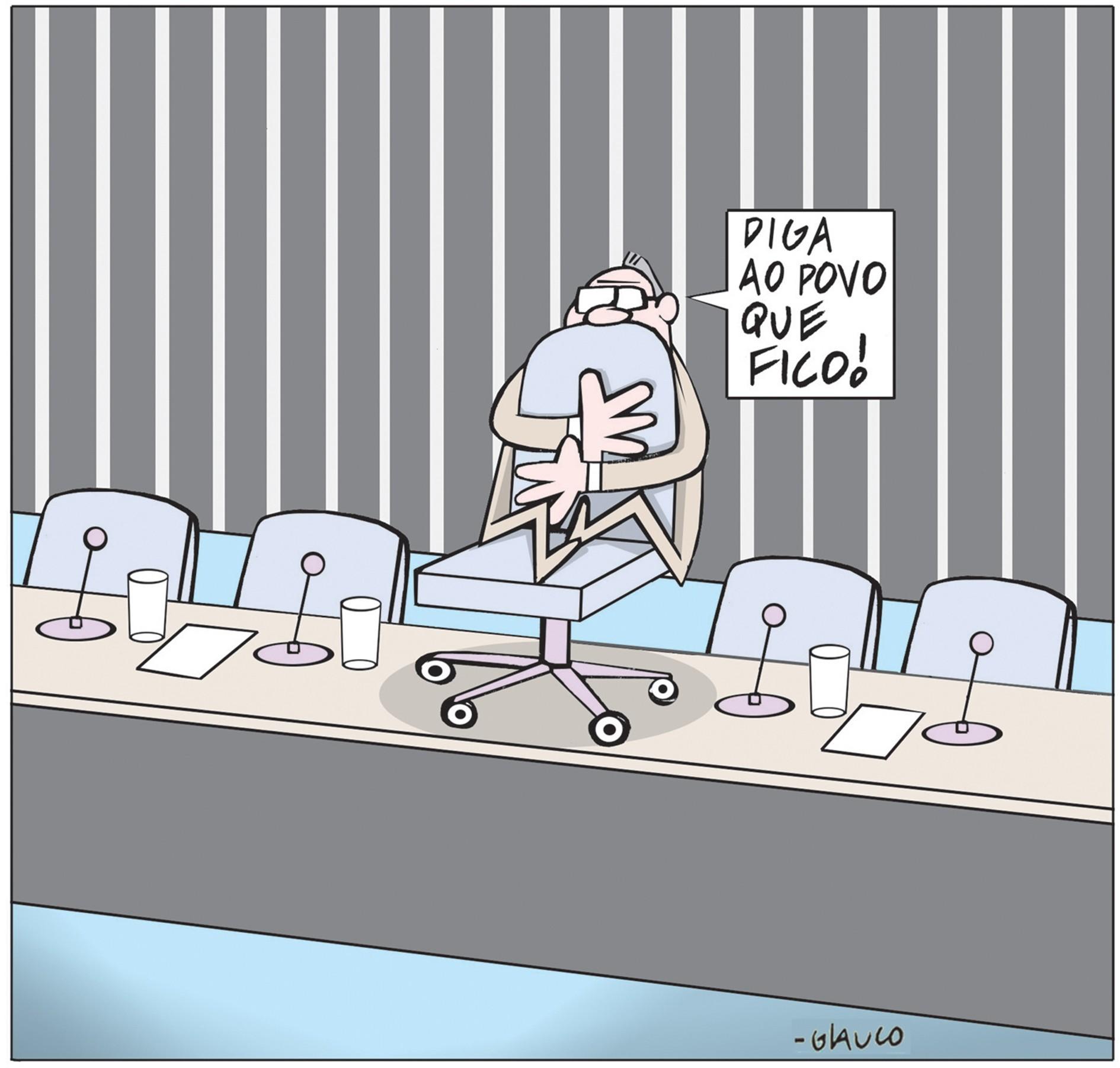 Quadrinho do cartunista Glauco exposto durante mostra no Itaú Cultural