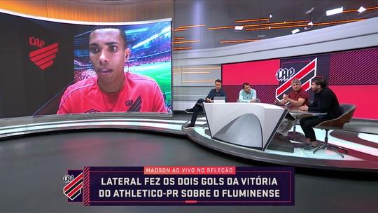 """No Seleção, Madson, do Athletico, comenta noite artilheira e elogia Tiago Nunes: """"Nos motiva"""""""