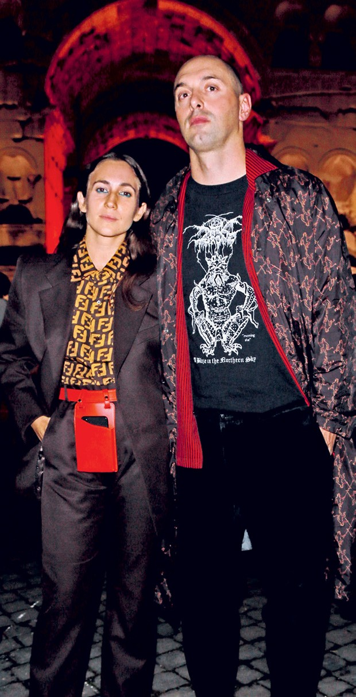 Delfina com o marido, Nico Vascellari (Foto: Divulgação)