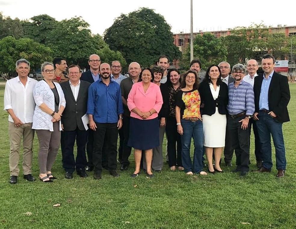 Governadora Fátima Bezerra dá posse aos secretários nesta quarta (2) — Foto: Facebook/Fátima Bezerra
