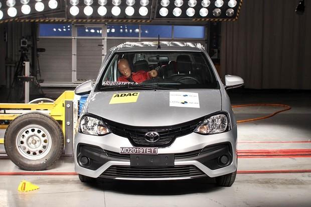 Crash test Latin NCAP Toyota Etios 2019 (Foto: Latin NCAP)