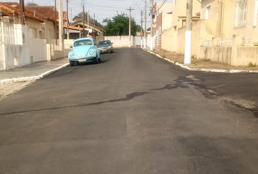 Pavimentação de rua que 'contornou' carros em Itapetininga é concluída  — Foto: Divulgação/Prefeitura de Itapetininga