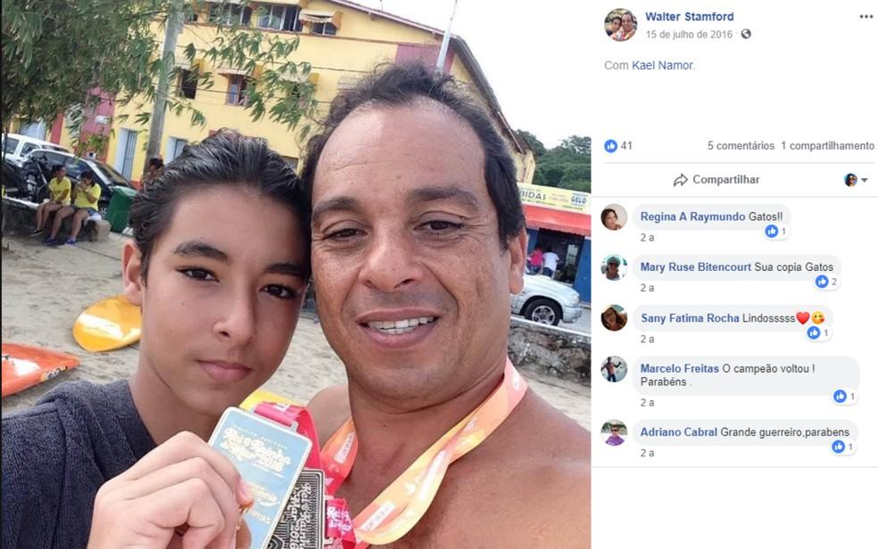 Atleta morreu após passar mal durante competição de natação em praia de Salvador — Foto: Reprodução/Redes Sociais