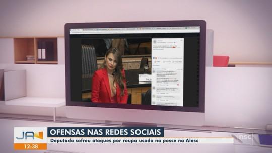 Deputada sofre onda de ataques nas redes sociais por uso de decote ao tomar posse em SC
