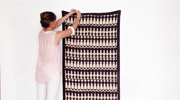 As estampas da Block Shop são criadas pelas irmãs e usadas nos tecidos indianos (Foto: Divulgação)