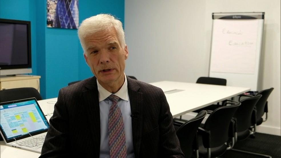 Andreas Schleicher, diretor de Educação da OCDE, concedeu entrevista exclusiva ao Bom Dia Brasil — Foto: Reprodução/TV Globo