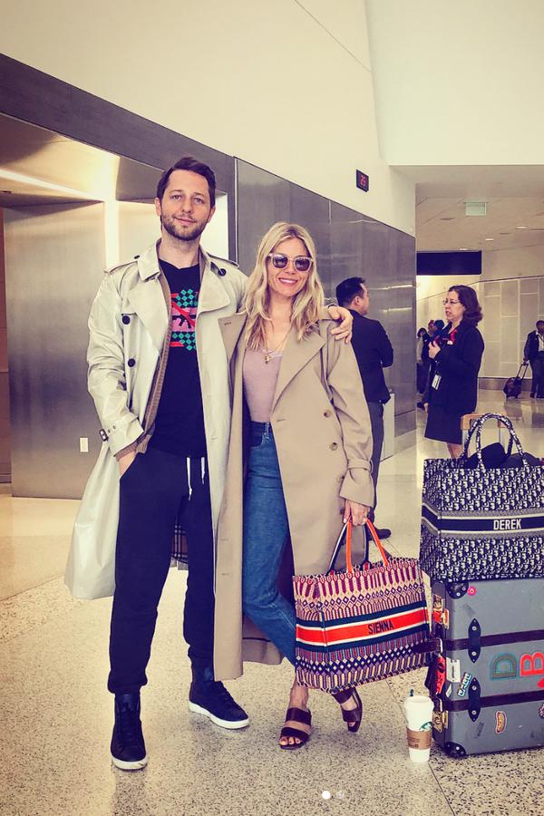Derek Blasberg e Sienna Miller (Foto: Instagram Derek Blasberg/ Reprodução)