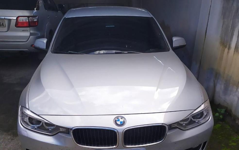 Um dos suspeitos do sequestro usava carro de luxo na Bahia — Foto: Divulgação/SSP-BA