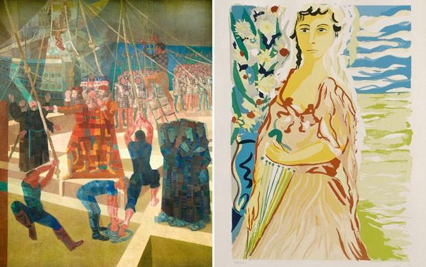 Obras da Galeria de Arte no Banco do Brasil, em Brasília  (Foto: Divulgação )