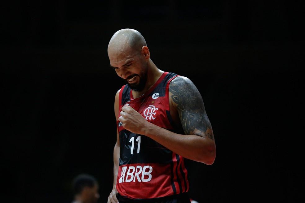 Marquinhos, ala do Flamengo, foi o cestinha com 30 pontos, sua melhor marca no atual NBB — Foto: Divulgação/LNB
