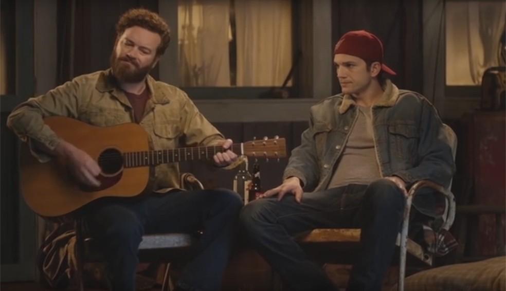 Danny Masterson e Ashton Kutcher dublam Srgio Reis para divulgar srie The ranch Foto Divulgao  Netflix