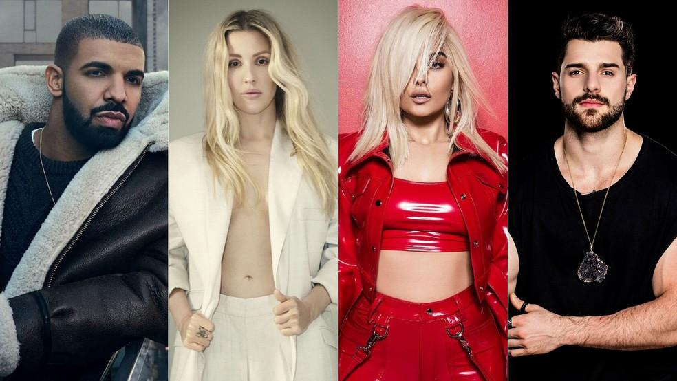 Drake, Ellie Goulding, Bebe Rexha e Alok são as atrações do primeiro dia de Rock in Rio 2019 — Foto: Divulgação