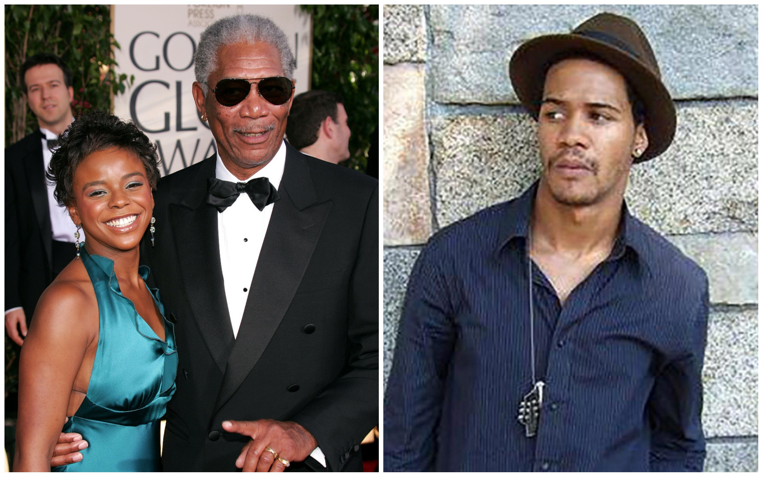 Morgan Freeman com E'Dena Hones e Lamar Davenport (Foto: Getty Images / Reprodução)