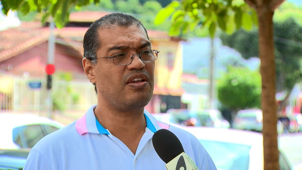 Associação de Motoristas de Aplicativo do ES (Amapes), Luiz Fernando Muller — Foto: Reprodução/TV Gazeta