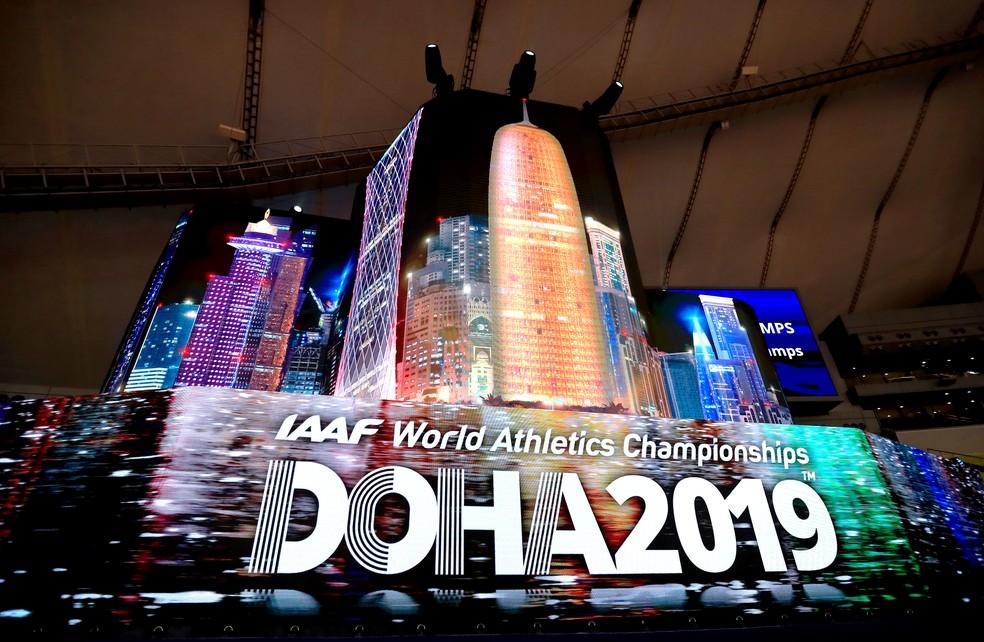 Última edição do Mundial de Atletismo aconteceu em Doha em 2019 — Foto:  Mike Egerton/Getty Images