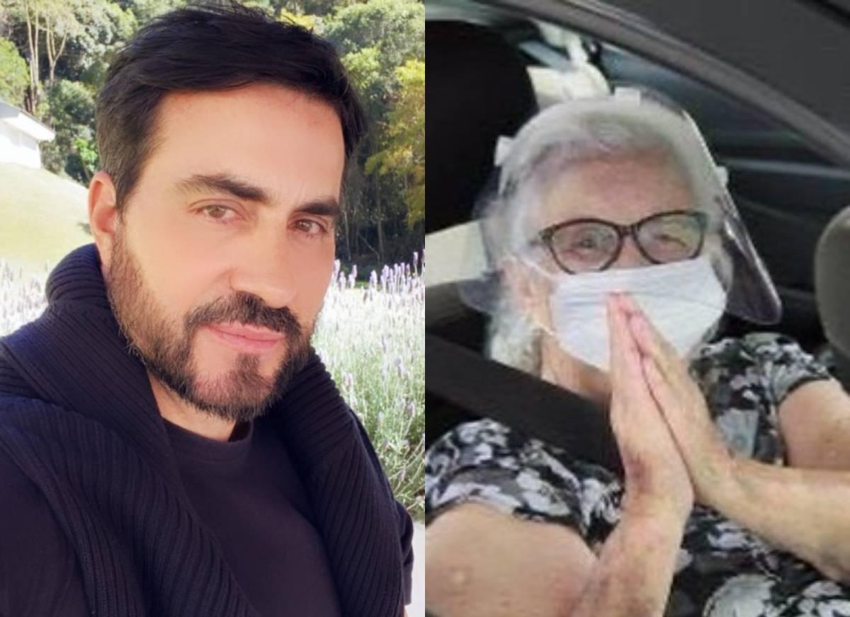 Padre Fábio de Melo com a mãe, Ana Maria (Foto: Reprodução/Instagram)