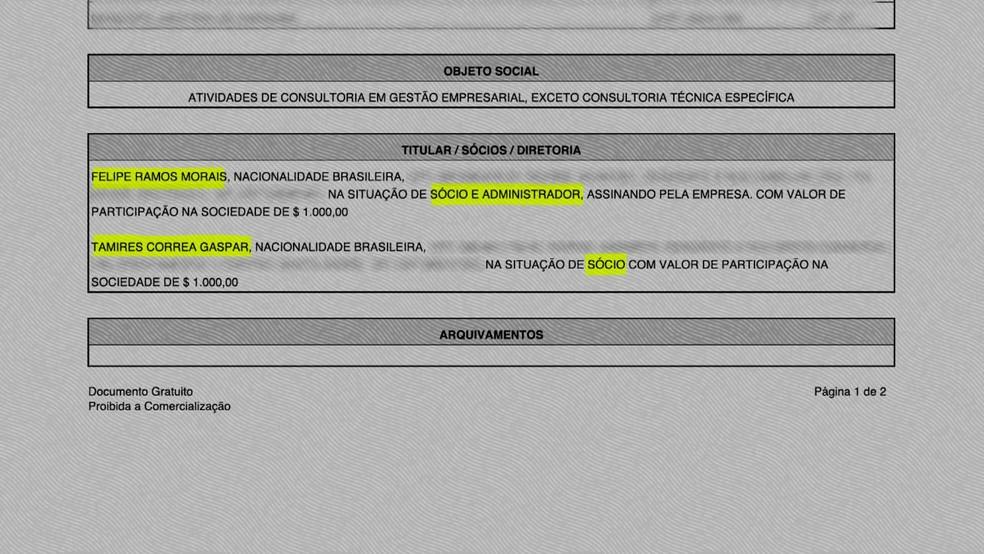 Piloto Felipe Ramos Morais tinha empresa com filha de coronel (Foto: GloboNews/Reprodução)