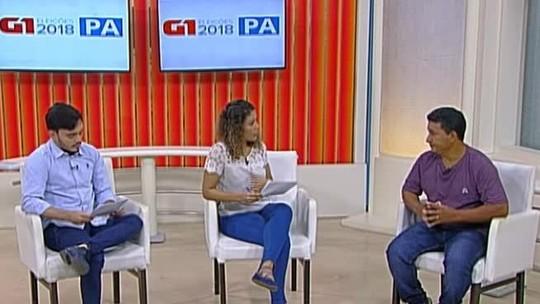 Veja a entrevista do candidato ao governo do Pará Cleber Rabelo ao G1