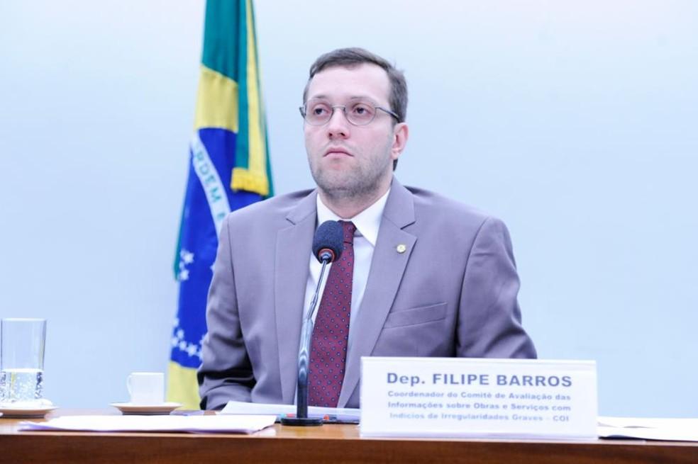 O deputado Filipe Barros (PSL-PR) — Foto: Cleia Viana / Câmaa dos Deputados