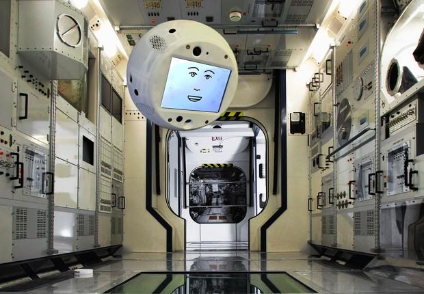 Cimon, robô desenvolvido pela IBM e pela Airbus (Foto: Divulgação)