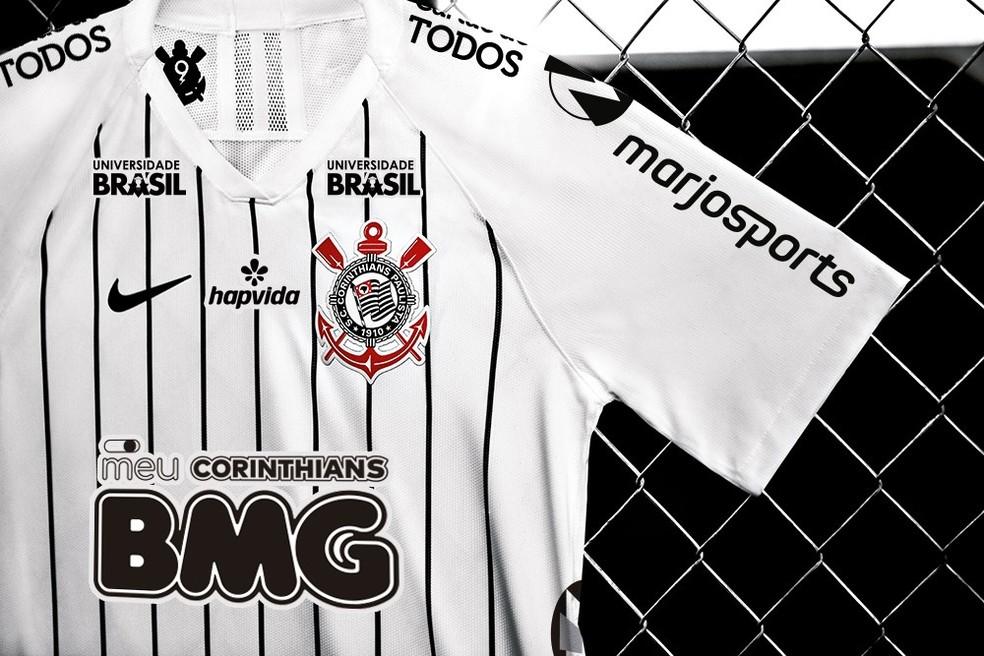 863053631ea6 Com aval de patrocinadores, Corinthians prepara camisa com as marcas ...