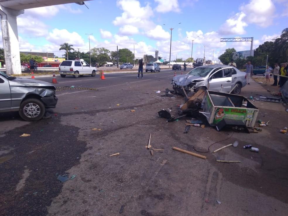 Vítima fatal era João Batista da Silva, de 46 anos. Ele estava no local esperando um caminhão chegar para trabalhar como carregador. — Foto: Geraldo Jerônimo/Inter TV Cabugi