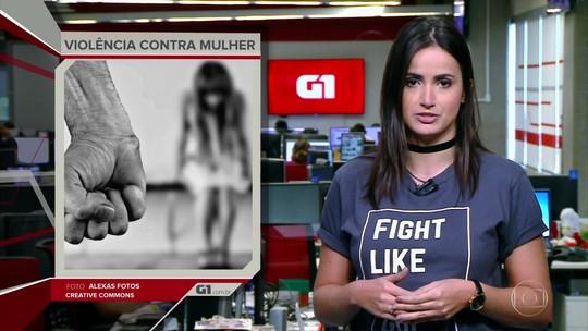 G1 em 1 Minuto: Em 2017, uma mulher foi assassinada no Brasil a casa duas horas