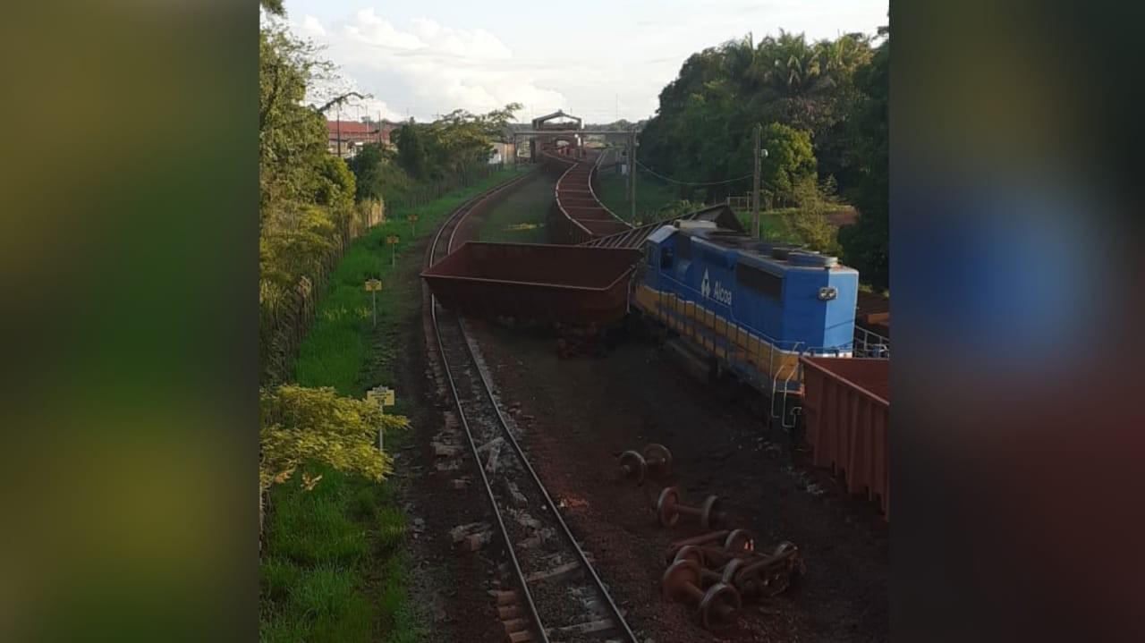 Em Juruti, incidente com vagões na ferrovia de mineradora causa danos materiais