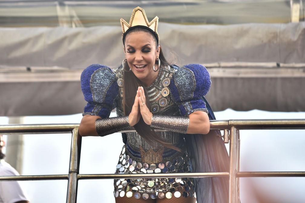 Ivete Sangalo no 3º dia de carnaval de Salvador — Foto: Max Haack/Ag Haack