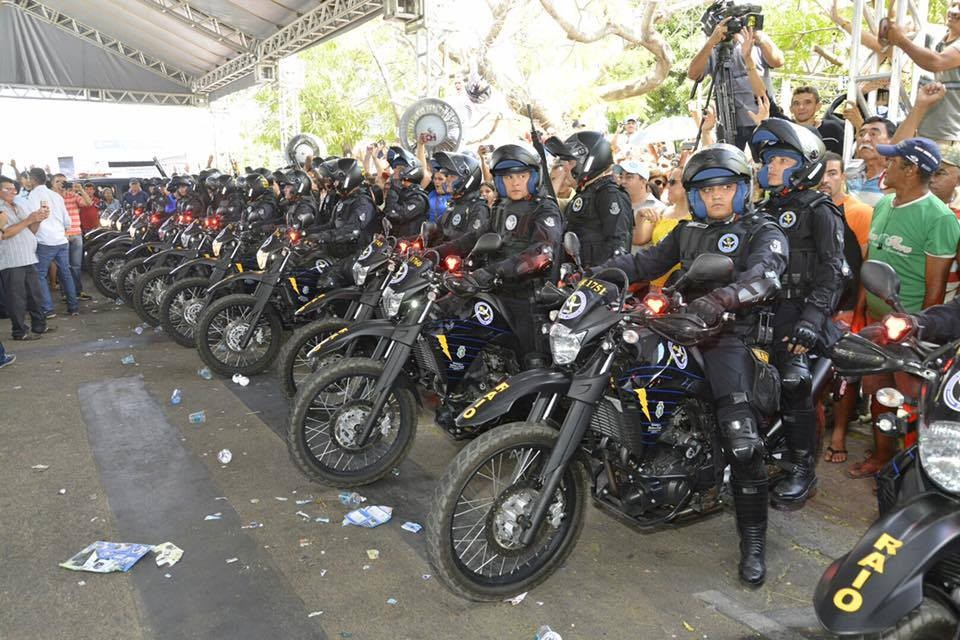 Maracanaú recebe base fixa do BPRaio com 56 policiais e 26 veículos