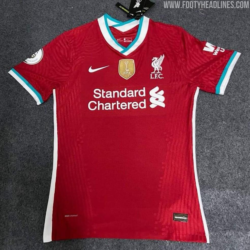Vazam Imagens Da Nova Camisa Do Liverpool Patch Do Mundial E Golas E Mangas Verdes Brasil Mundial Fc Ge