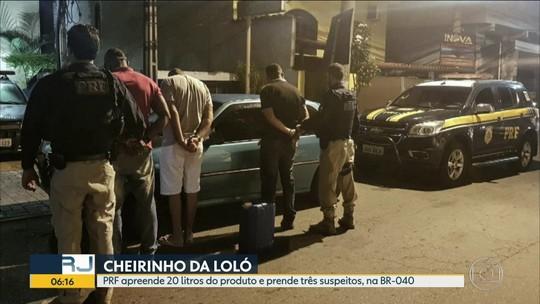Três homens são presos com cheirinho da loló na BR-040
