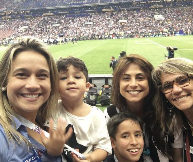 Fernanda Gentil com a família (Foto: Reprodução)