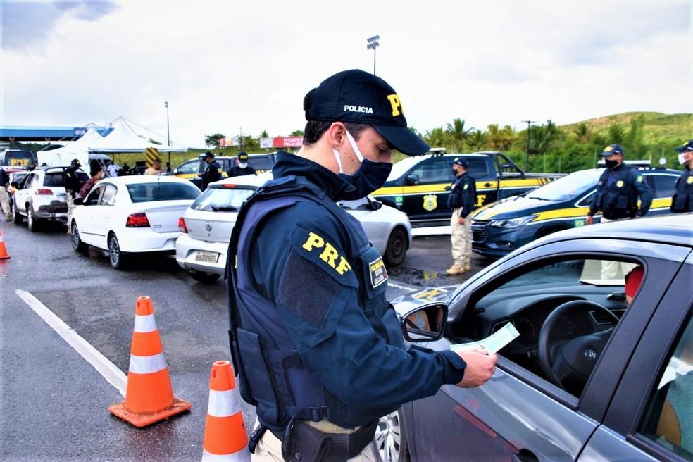 PRF registra aumento de 200% no nº de mortes nas rodovias baianas durante operação de Ano Novo — Foto: Foto: PRF/Divulgação