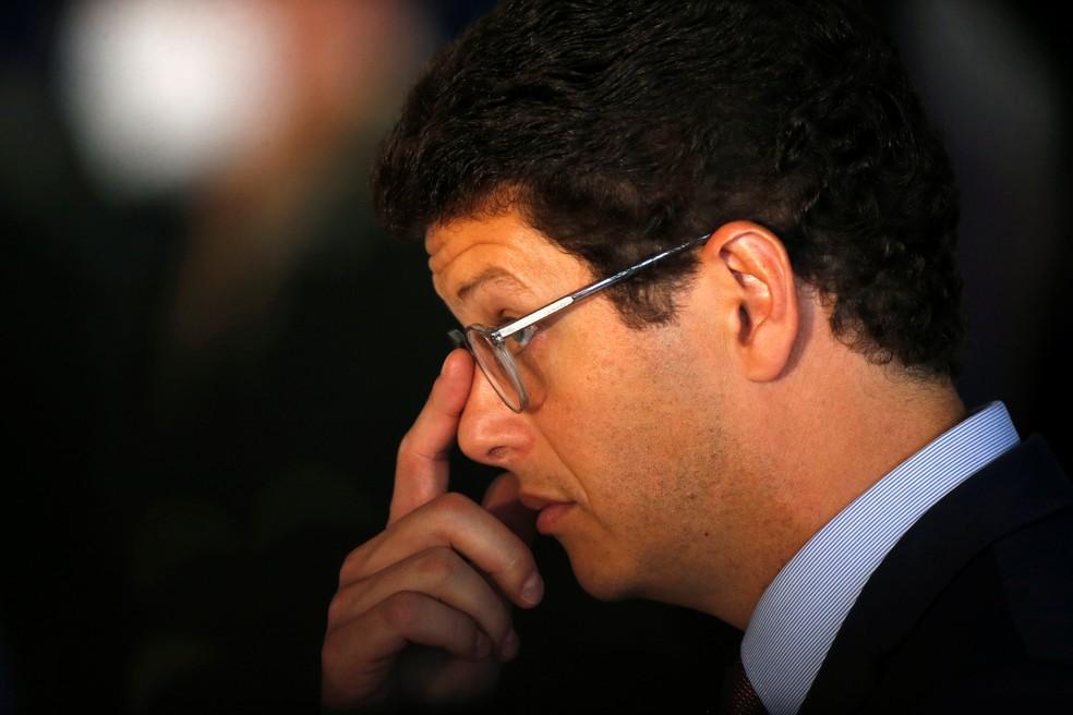 Ministro Ricardo Salles, em Brasília, no dia 22 de outubro. — Foto: REUTERS/Adriano Machado