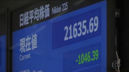 Queda em bolsa dos EUA derruba mercados da Ásia e da Europa