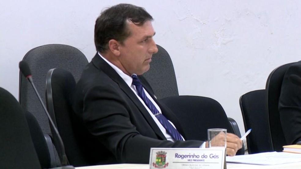 Vereador Rogerinho do Gás — Foto: Reprodução/TV Gazeta