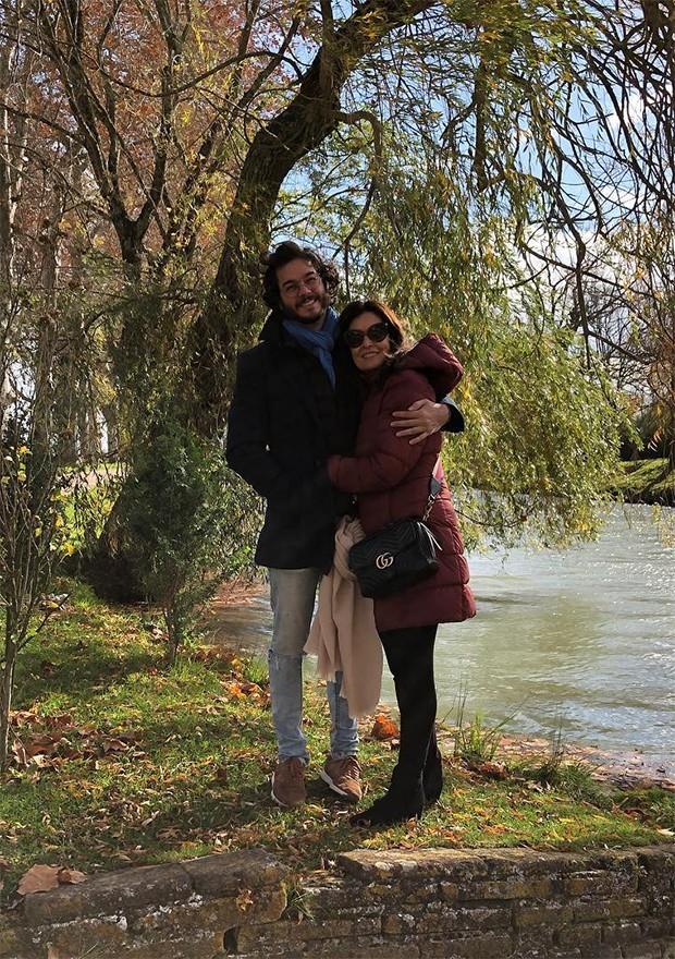 Fátima Bernardes e Túlio Gadêlha (Foto: Instagram)