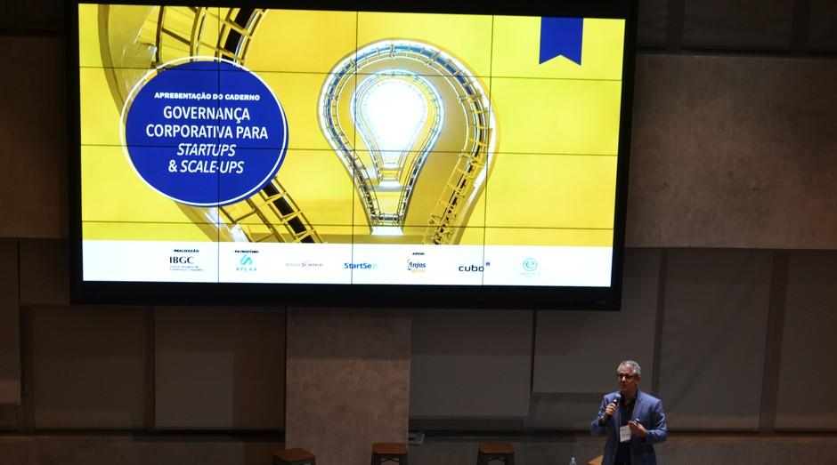 Apresentação do guia Governança Corporativa para Startups & Scale-Ups (Foto: Renan Perondi/IBGC)