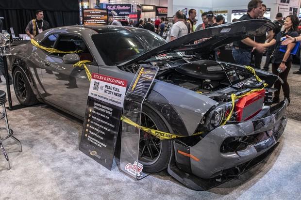 Dodge Challenger roubado (Foto: Autoblog)