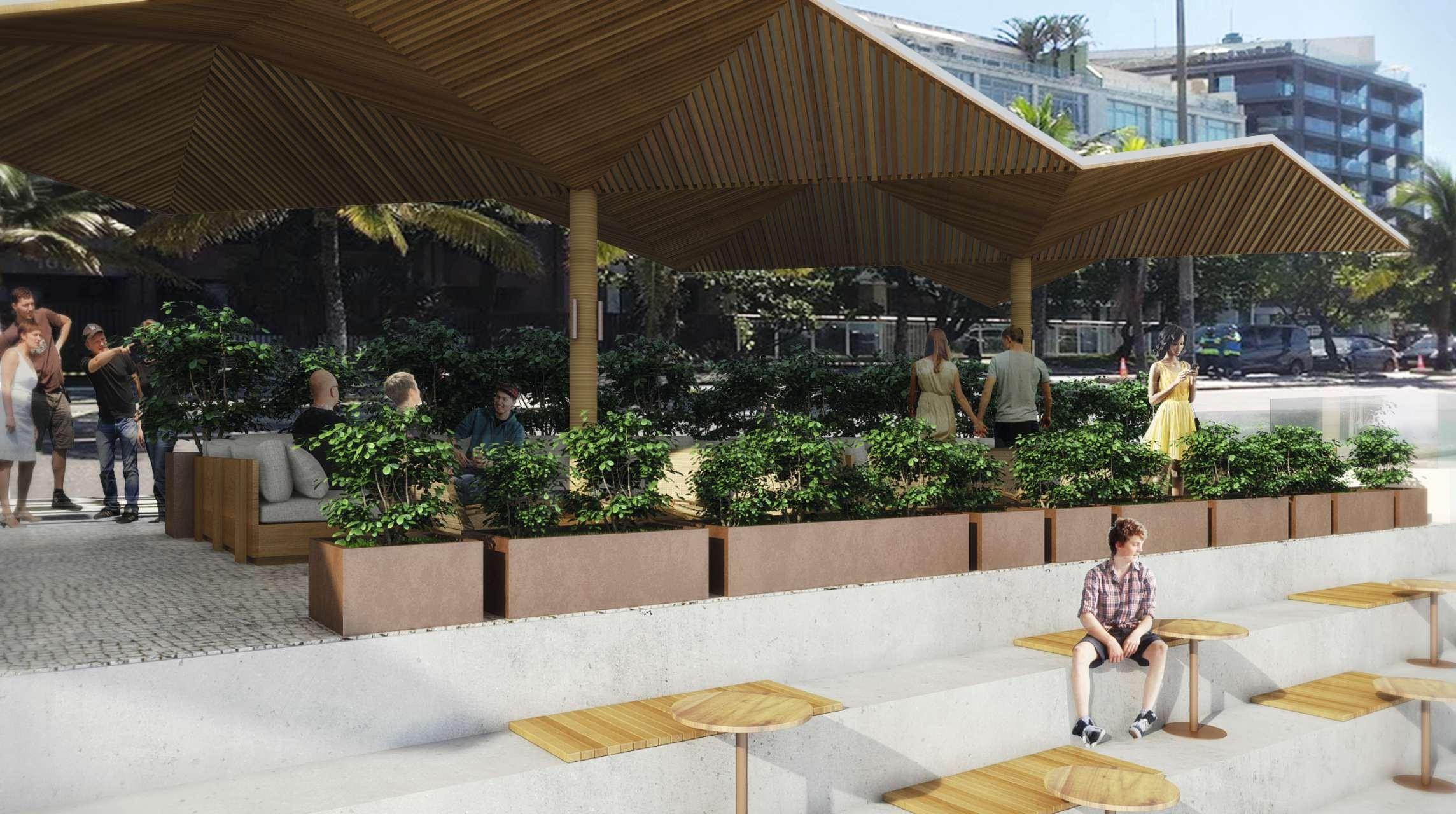 O novo quiosque de praia de Rogério Fasano (Foto: Divulgação)