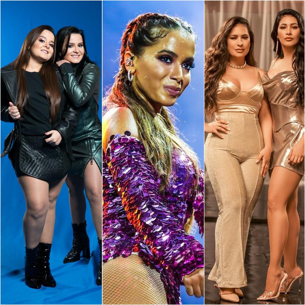 Maiara & Maraisa, Anitta e Simone & Simaria fazem lives neste sábado (23) — Foto: Divulgação