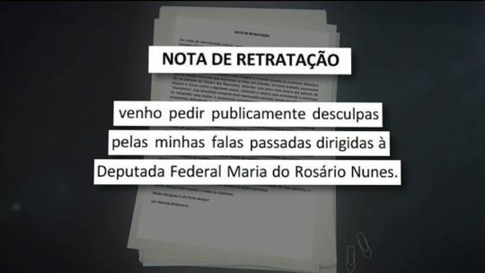 Bolsonaro pede desculpas à deputada Maria do Rosário